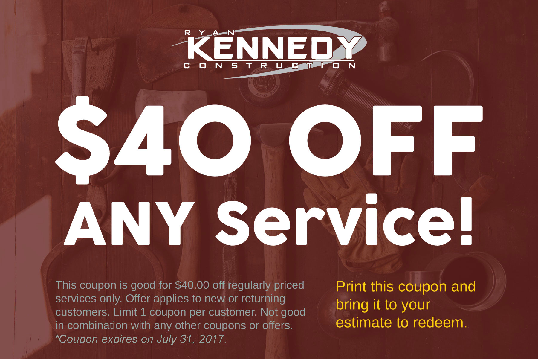 Ryan Kennedy Construction Coupon